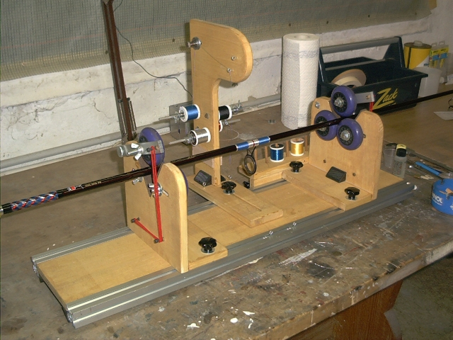 Homemade windingtool equipment for Fishing rod building tools