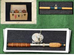 Ash-wood 1930's Style Rod with Redwood Burl/Cork Handle