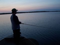 Musky fishing with new rod